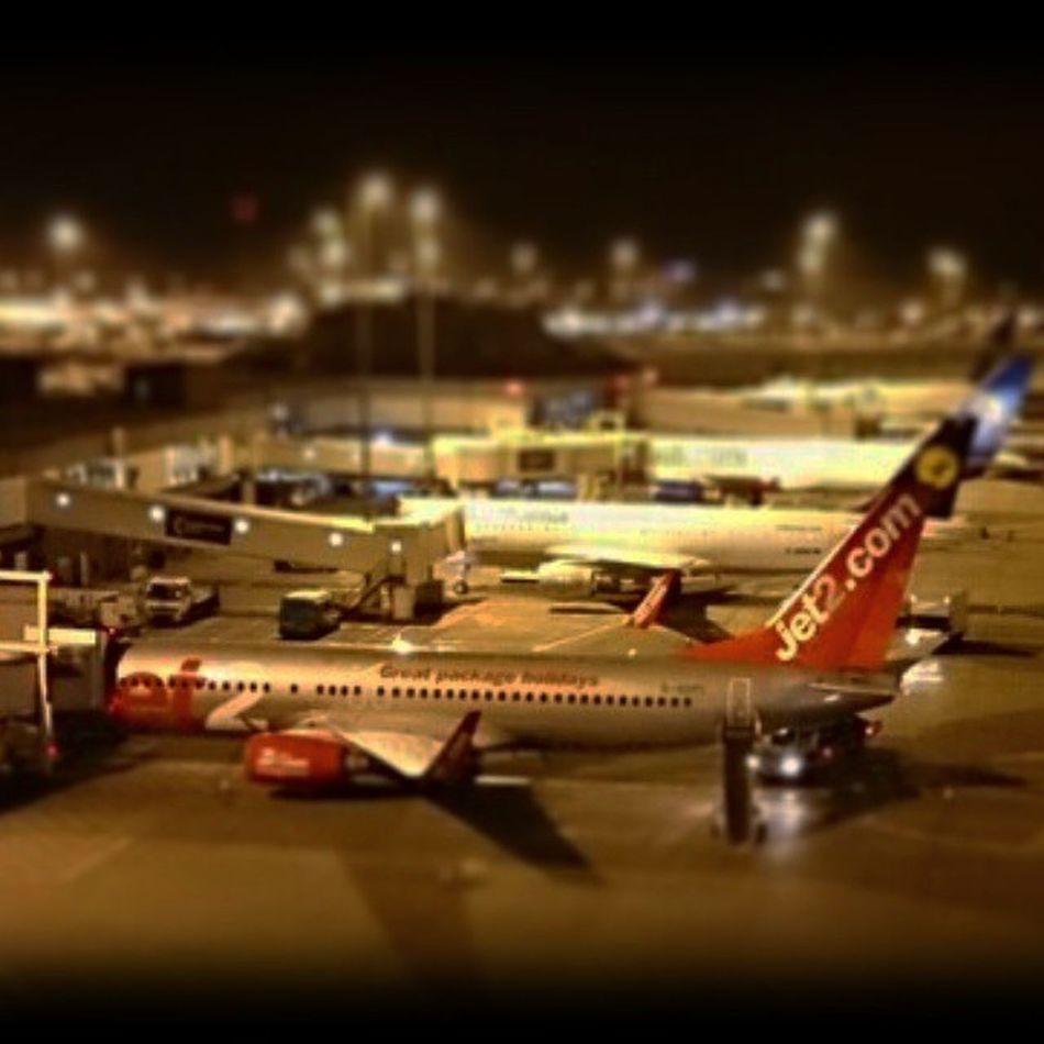 Latenight Manchester Toyairport Jet2 Boeing 757 Night Airport