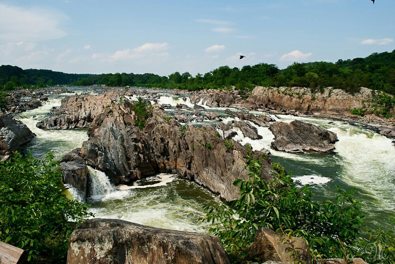 Great Falls National Park Water Falls Northern Virginia Landscape