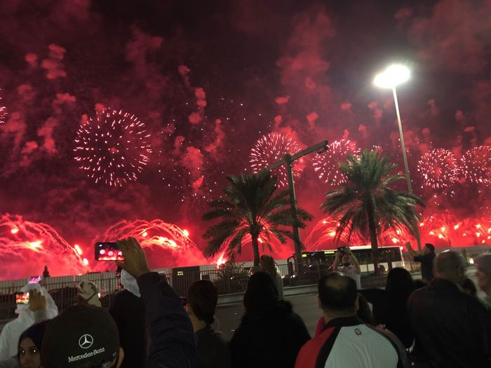 New year celebration Abu Dhabi Corniche Abudhabilovers Myabudhabi Abu Dhabi Night Celebration Real People Firework Display Firework - Man Made Object Illuminated Event Glowing Large Group Of People Exploding Arts Culture And Entertainment Firework Crowd Sky People Outdoors Lifestyles
