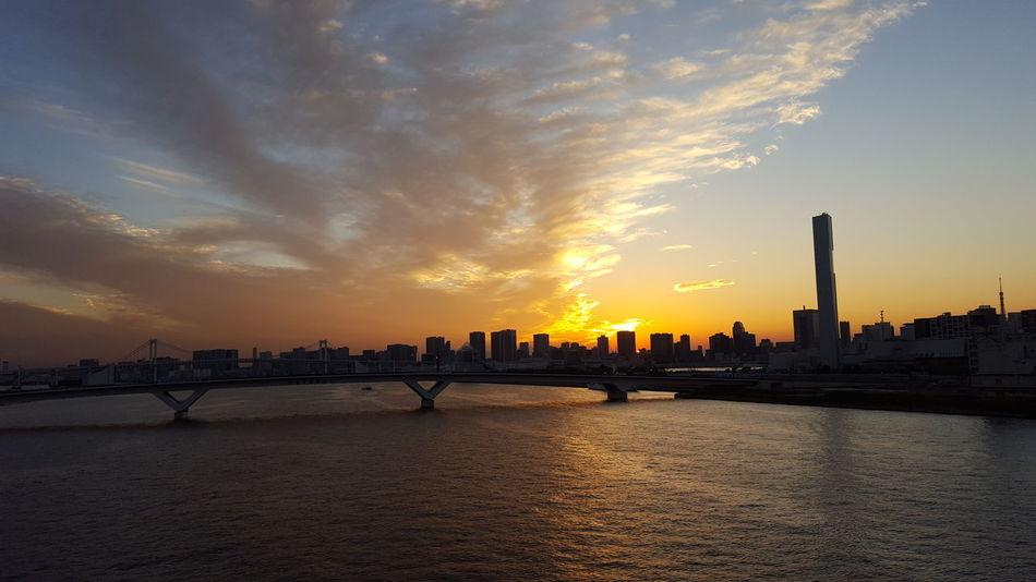 My Year My View Tokyo,Japan On The Way To Work Sunset Bridge