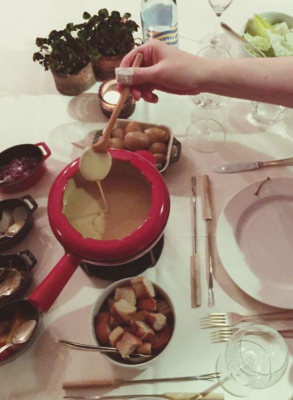 CheeseFondue Swiss Fondue Dinner Food