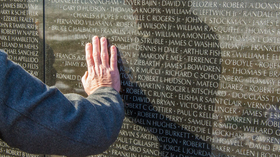 Remembering Close Up Close-up Hand Remember Remembering Remembrance The Wall Vietnam Veterans Wall