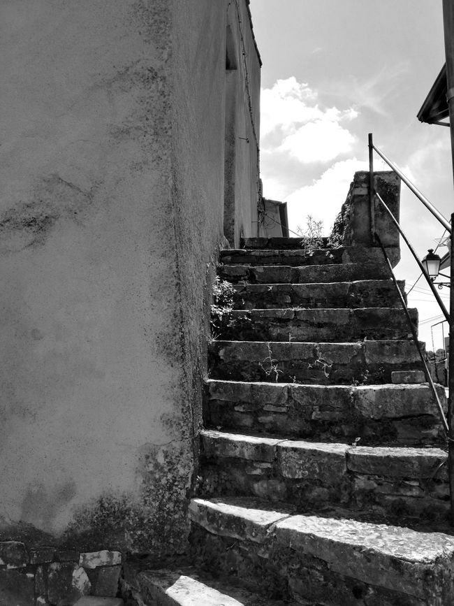 Architecture Architecture Building Building Exterior Built Structure Cloud Cloud - Sky Collection Day Italy Nature No People Outdoors Prospective Sky Staircase Stairs Stears Steps Steps And Staircases Street Photography The Way Forward Urban View Wall - Building Feature