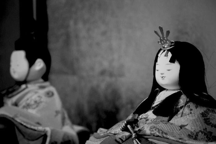 今年も…虫にもくわれず…無事に逢えました Japanese Culture 雛人形 Monochrome Blackandwhite ひなまつり