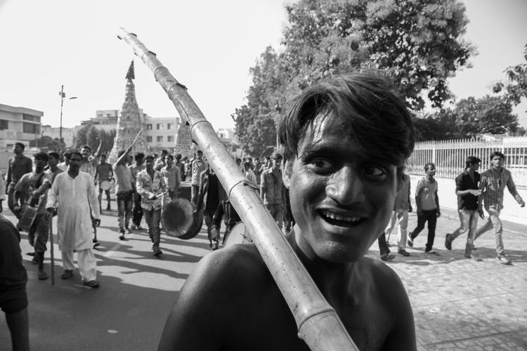 Scenes from a procession of Muharram in Lucknow, India #Mourning of Muharram is a set of #rituals associated with #Shia Islam. The event marks the anniversary of the Battle of Karbala when Imam Hussein was killed by forces of Yazid I. Festival Islam Moharram Muharram Relaxing Streetphotography The Photojournalist - 2016 EyeEm Awards The Street Photographer - 2016 EyeEm Awards Original Experiences Lucknow India Eyeemphoto TakeoverContrast Dramatic Angles Monochrome Photography Enjoy The New Normal My Year My View Be. Ready.