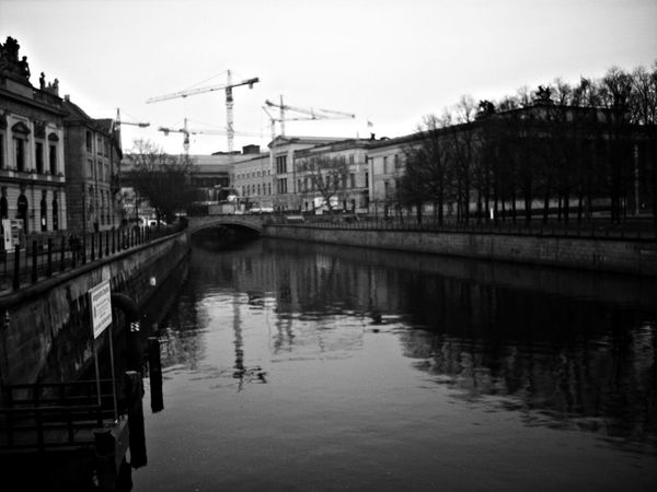 #Berlin #blackandwhite #germany #intheway #OldTown #retro #trip Architecture Built Structure Canal City City Life Nature No People River