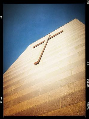 Cross at Mill Creek Community Church by Martin Burch