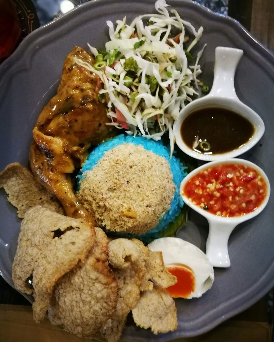 Kelantan Food Ulam Nasi Malaysian Malaysianfood Local Food Ayam Chickenrice Percik Roast Chicken Meat