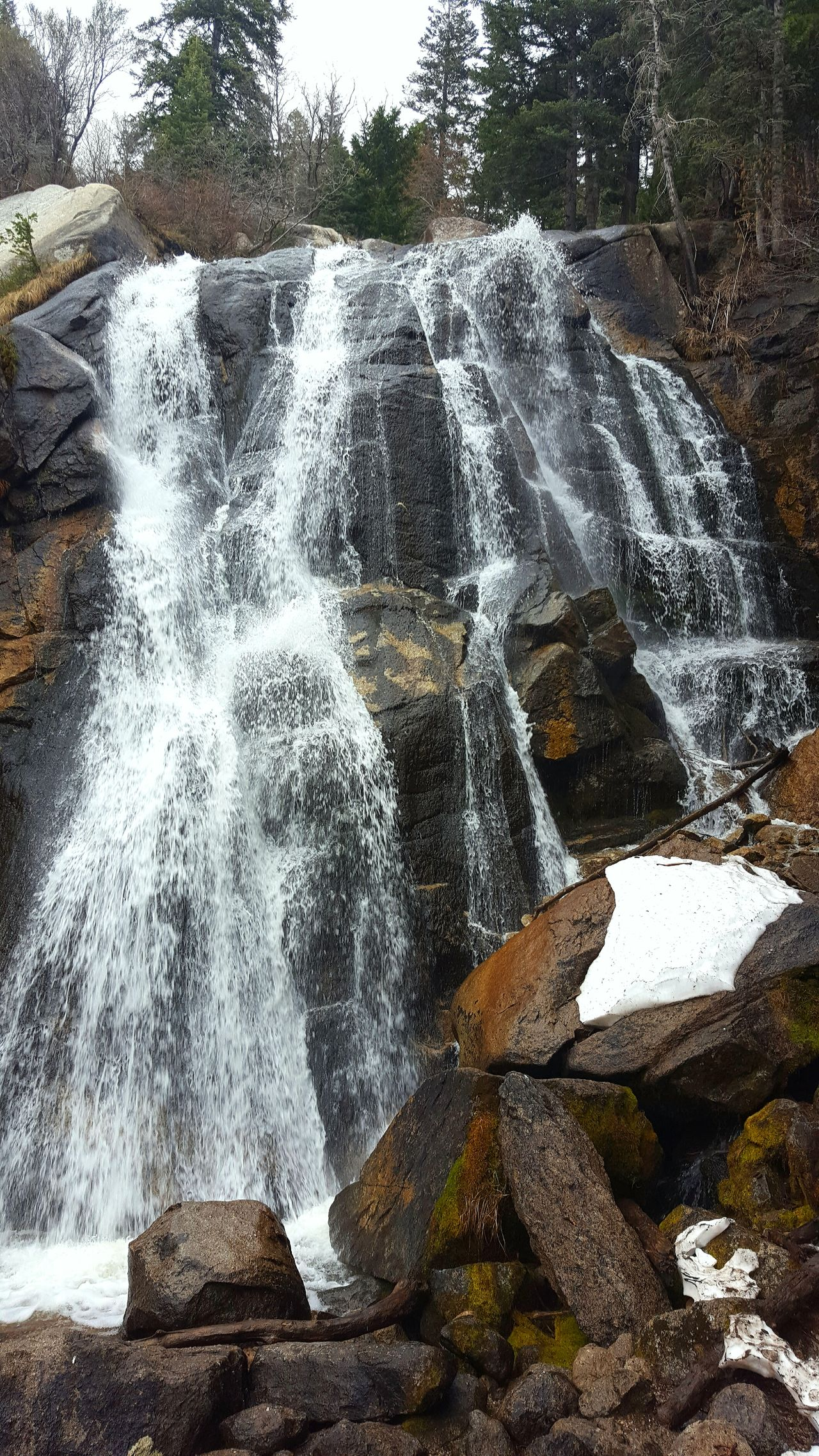 Waterfall Close-up Beauty In Nature Spring Runoff Nature Therapy Utah Waterfalls Hiking Adventures No People Low Angle View Scenic View