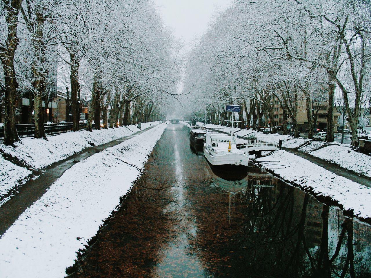 Toulouse Canal De Brienne Neige