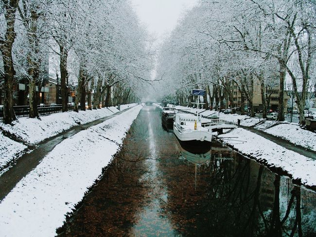 Toulouse Canal De Brienne Neige
