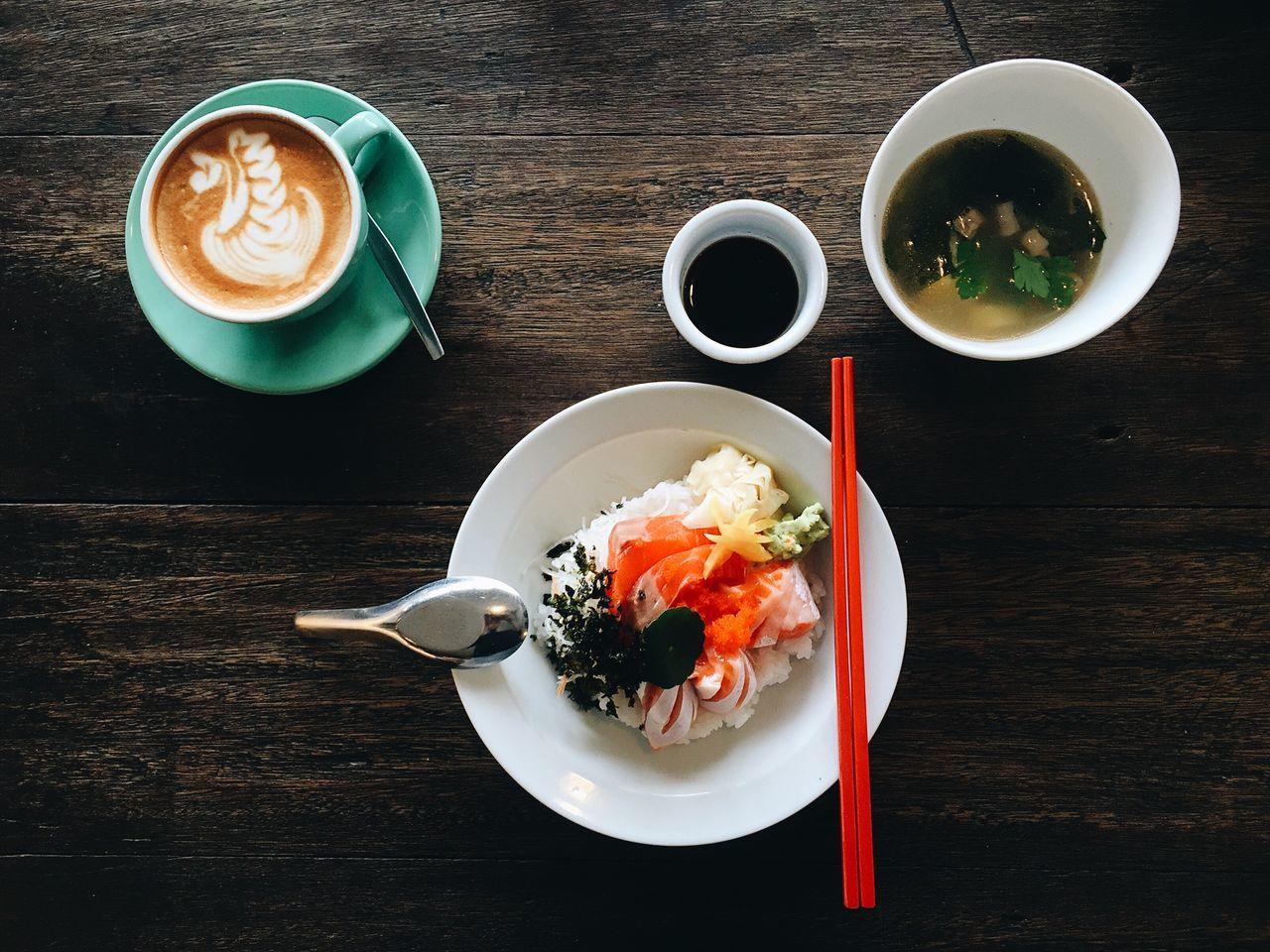 Beautiful stock photos of coffee, Bowl, Chopsticks, Close-Up, Coffee - Drink