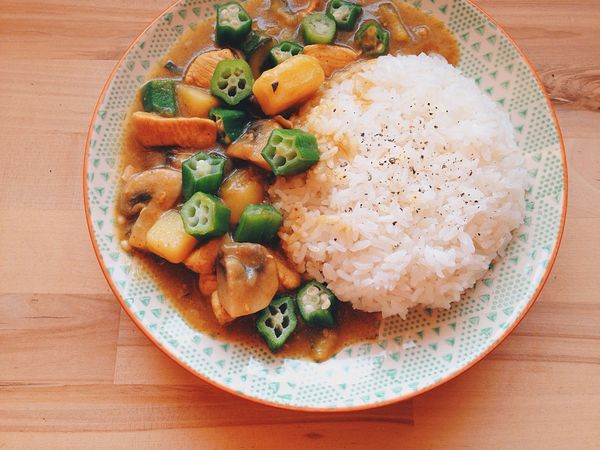 My World Of Food 🌟🌟Okra Curry💕😍 Food Food Porn Foodie Curry Cooking Love Homemade Yummy Enjoying Life