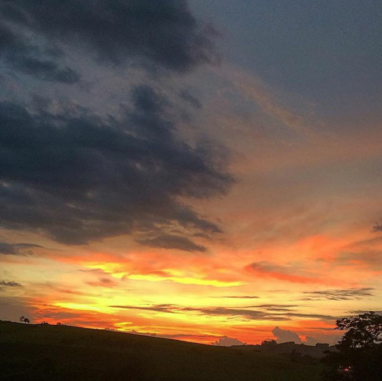 Sunset Orange Color Cloud - Sky Scenics Nature No People Outdoors Tranquil Scene Beauty Tranquility Beauty In Nature