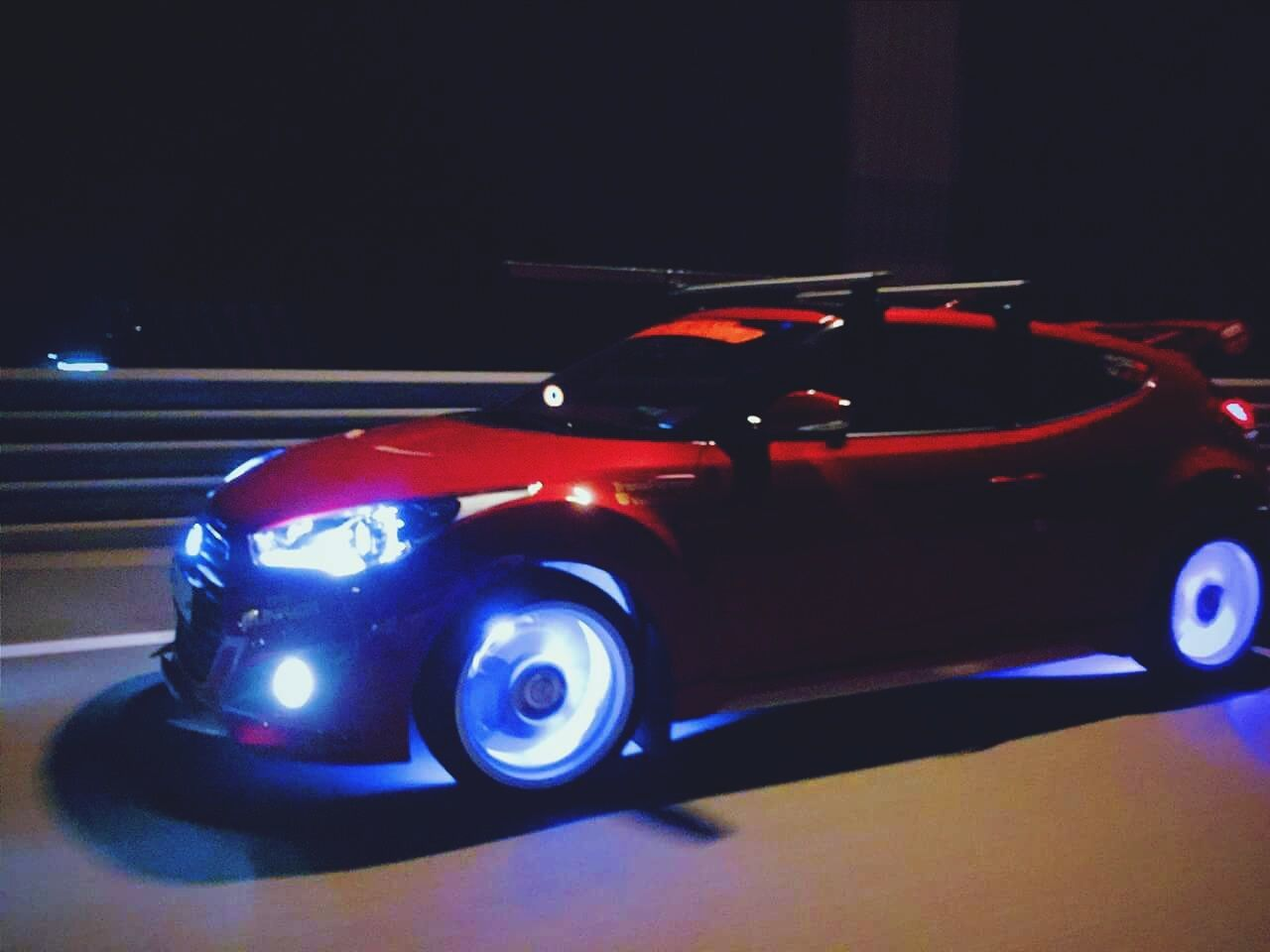 The Drive Red Auto Racing Illuminated No People Racecar Sports Race Night Outdoors Motorsport Collector's Car Velosterturbo Veloster Velocity Velosternation