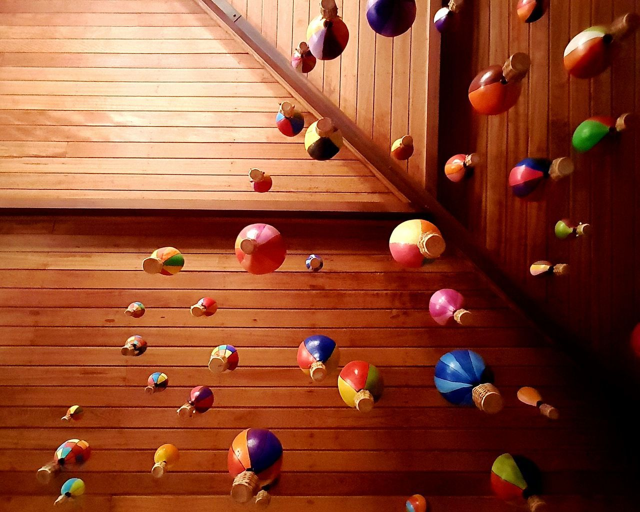 Wood - Material Directly Above No People Multi Colored Indoors  Childhood Day Space Close-up Popular The Week On EyeEem Baloons Baloon On Air Looking Up Beautifully Organized