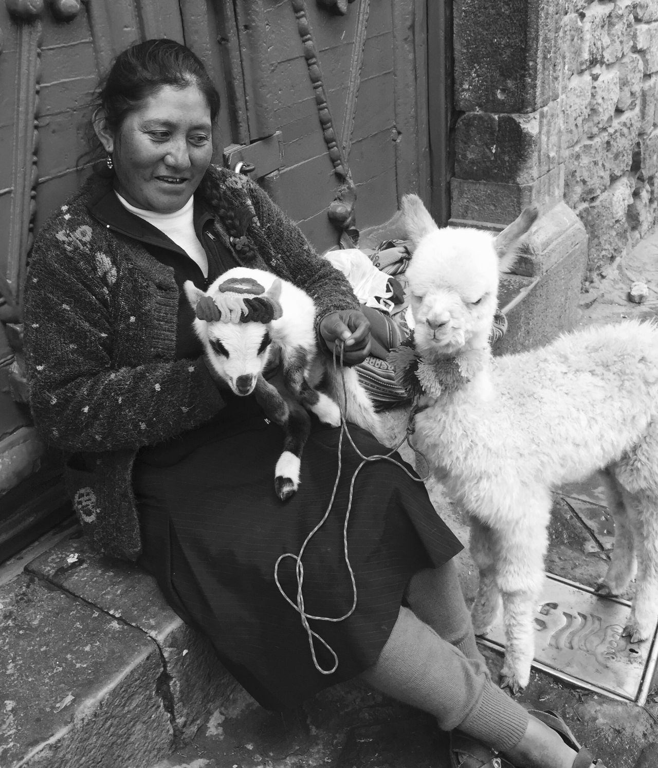 A Peruvian lady with baby alpacas ... Iphone6 LLLimages Cuzco-Perú The Street Photographer - 2016 EyeEm Awards The Portraitist - 2016 EyeEm Awards ThePhotojournalist2016eyeEmAwards TheFacesofPeru Original Experiences Feel The Journey