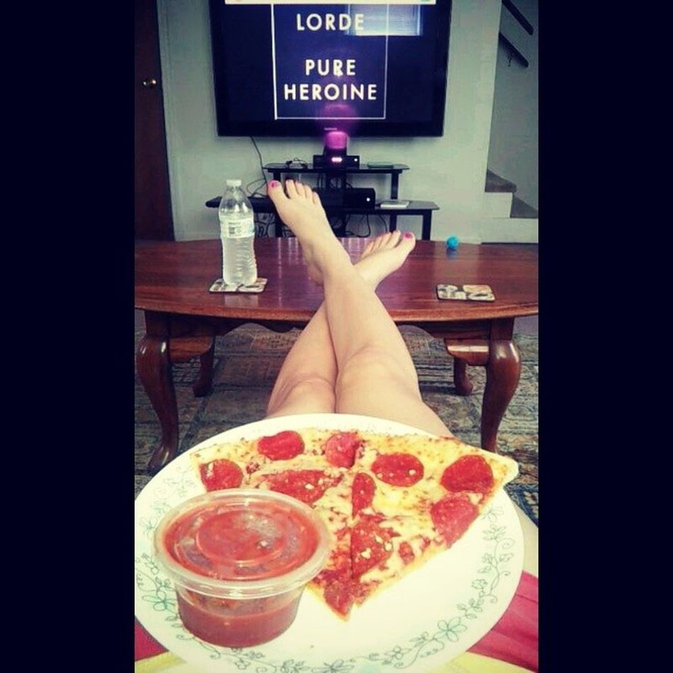 Finally done cleaning. GonnaKickMyFeetUp Pizza Lorde Relaxation