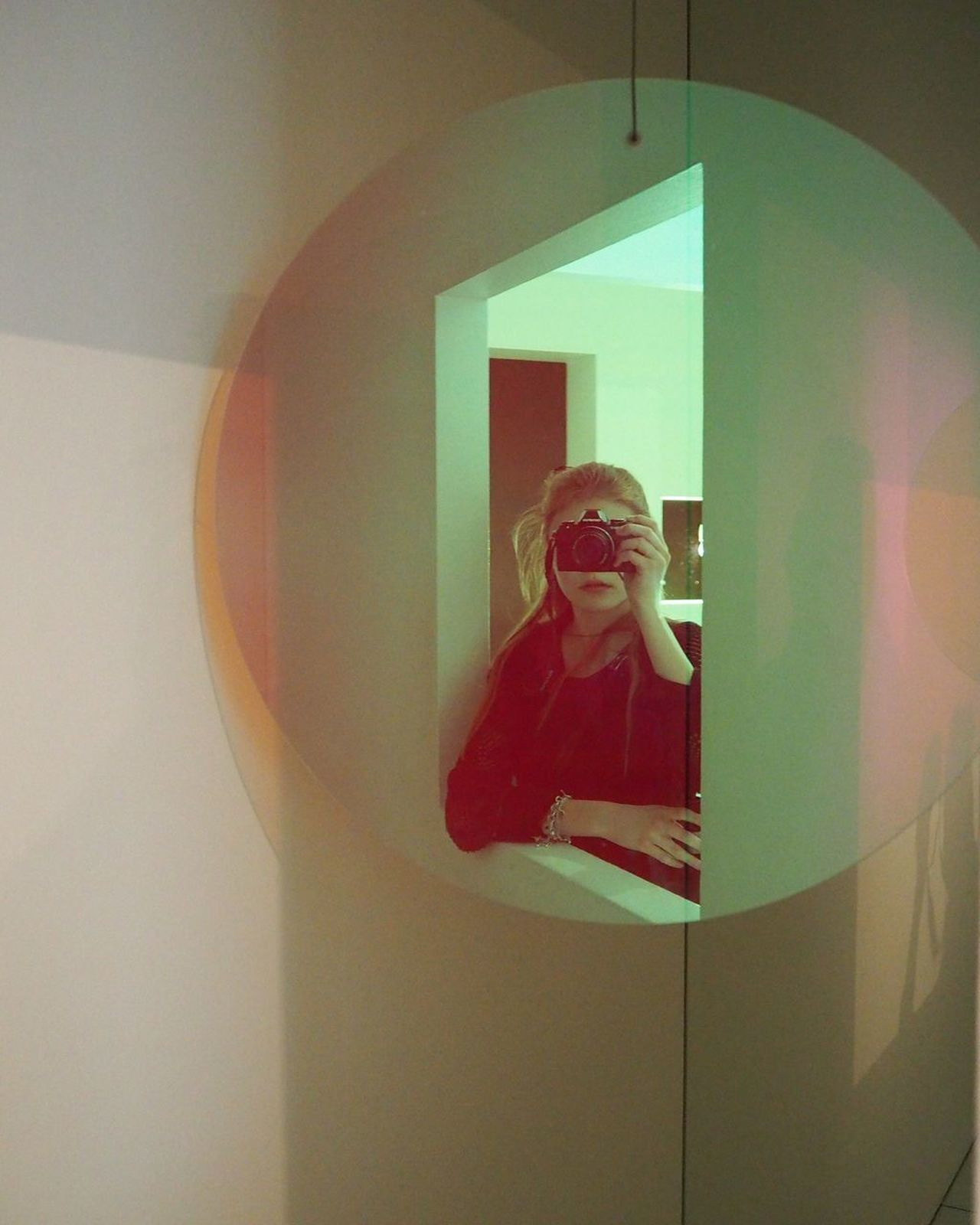 Real People Lifestyles One Person Waist Up Three Quarter Length Indoors  Standing Leisure Activity Home Interior Young Women Mirror Camera Morden Young Adult Illuminated Day Architecture EyeEmNewHere Fantasy Surrealism Colors Epic
