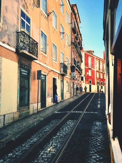 Architecture Day City Lisbon Tramway Summer Summertime Holidays Street Travel Beautiful Picturemoments