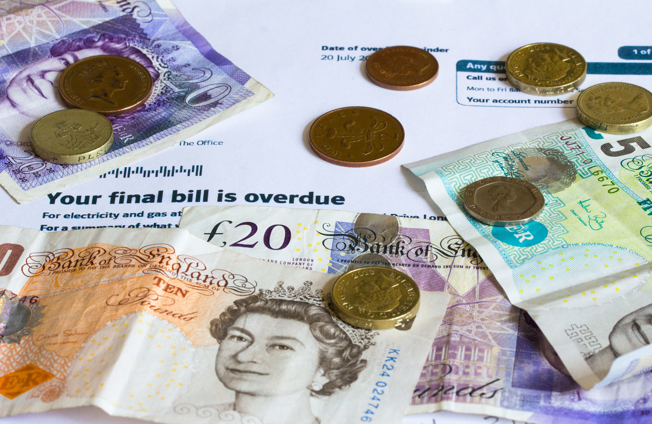 Bill Cash Coins Currency Final Demand Finance Money Notes From The Underground Overdue Paper Currency Sterling