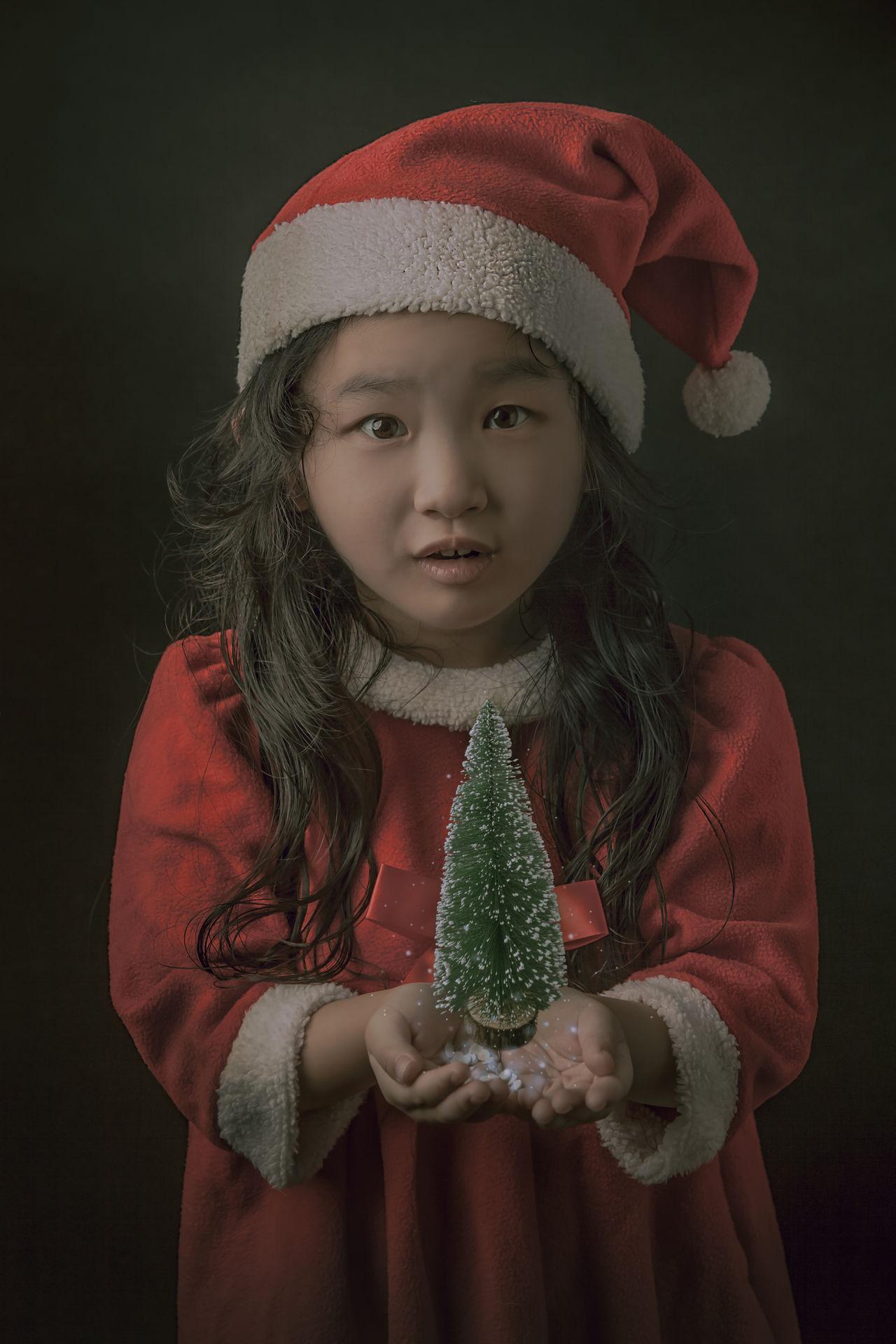 Beautiful stock photos of santa claus,  4-5 Years,  Brown Hair,  Celebration,  Child