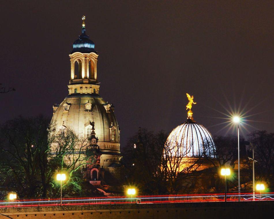 Dresden Cityscapes Frauenkirche Kirche Zitronenpresse Fama Cities At Night