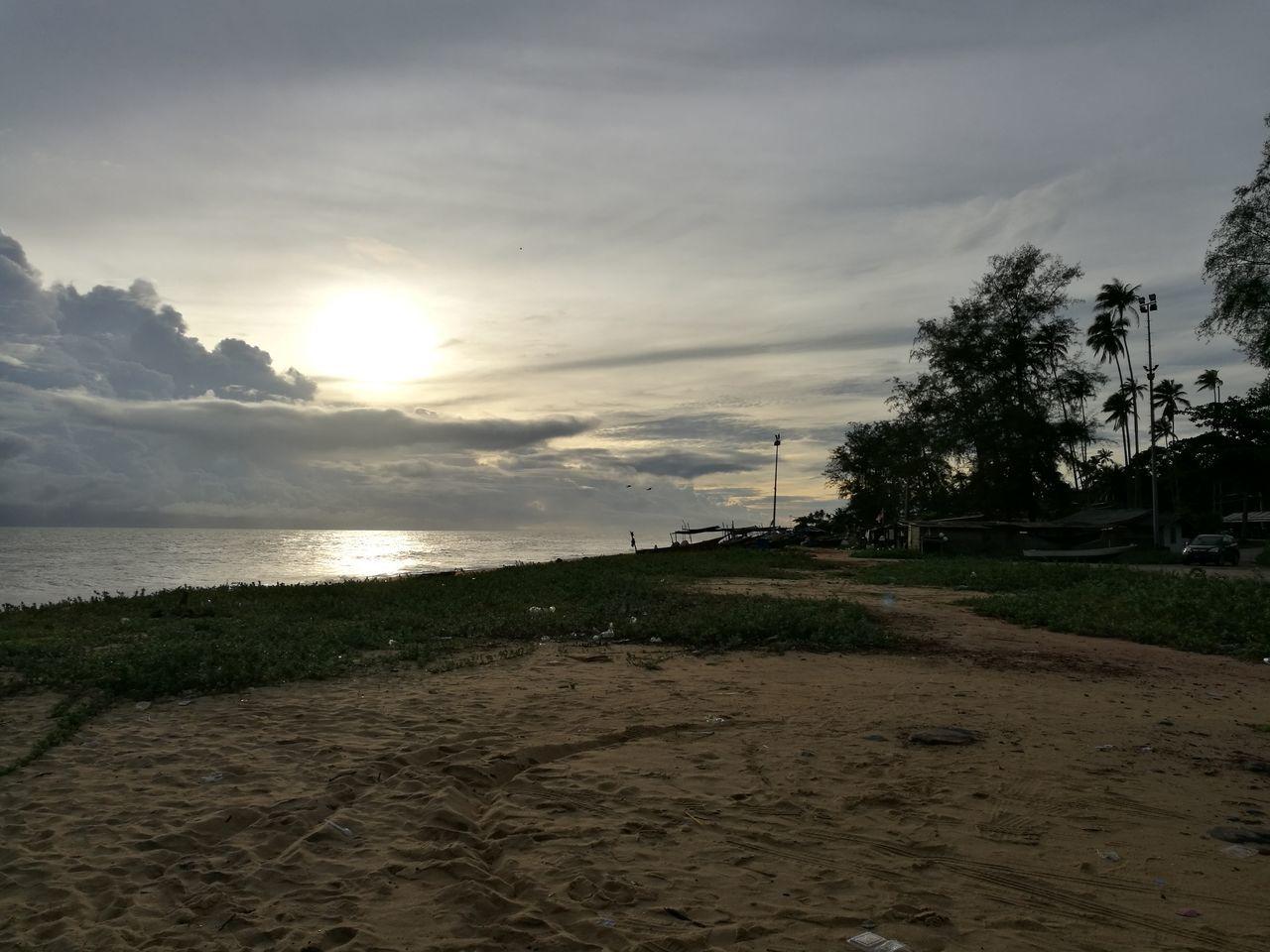Beach Sand Sea Sky Nature Cloud - Sky Outdoors Water No People Beauty In Nature Baturakit Terengganukite Terengganu