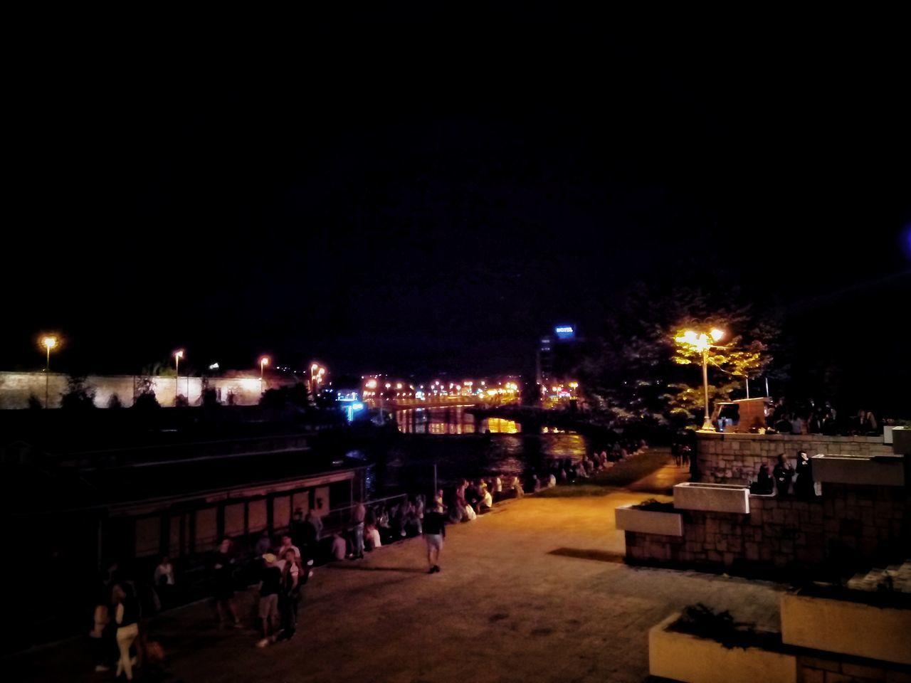 Night Celebration Large Group Of People Tree City People Landscape End of concert serbian rock group Kerber