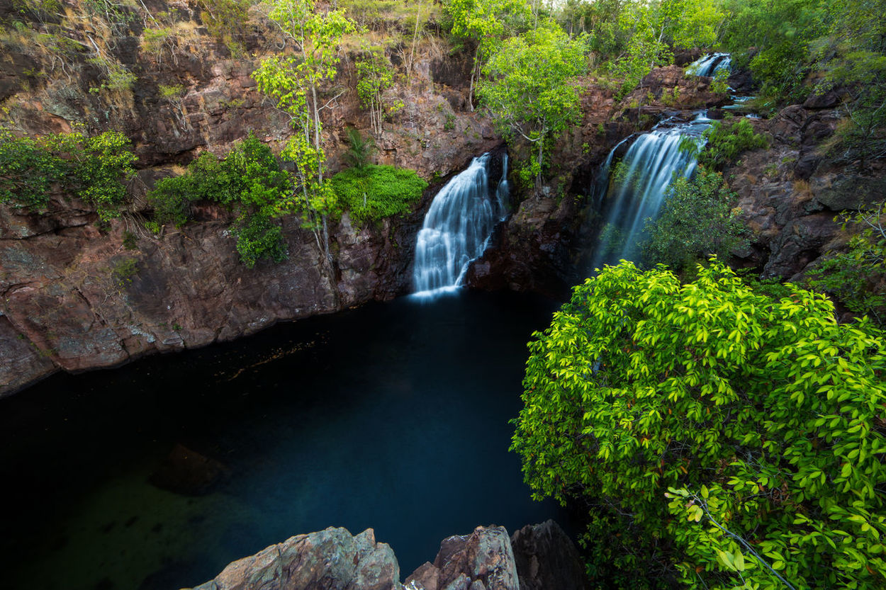 Australia Beauty In Nature Day Flowing Flowing Water Green Color Litchfield National Park Long Exposure Motion Natural Landmark Nature Non-urban Scene Power In Nature Rock Rock - Object Rock Formation Scenics Tranquil Scene Tranquility Water Waterfall