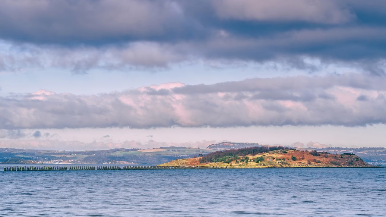 Cramond Island Edinburgh Cramond Cramondisland Scotland FirthOfForth Seaside Island Water Sky Clouds Cloud - Sky Scenics Landscape Outdoors No People