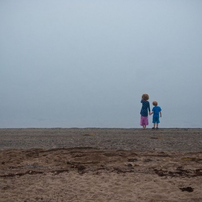 Bestof2013 My kids peering in to the fog on the beach in Lunenburg , Novascotia . Can't wait to go back. Igersottawa
