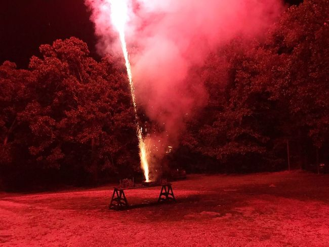 Night Glowing Burning Red Illuminated Outdoors No People 4th Of July