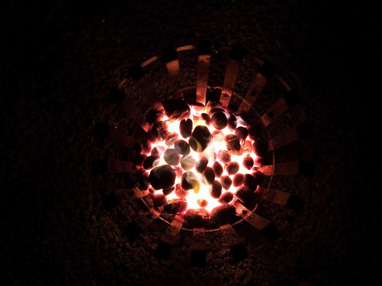 flame, glowing, heat - temperature, high angle view, burning, illuminated, night, no people, diya - oil lamp, indoors, diwali, food, close-up