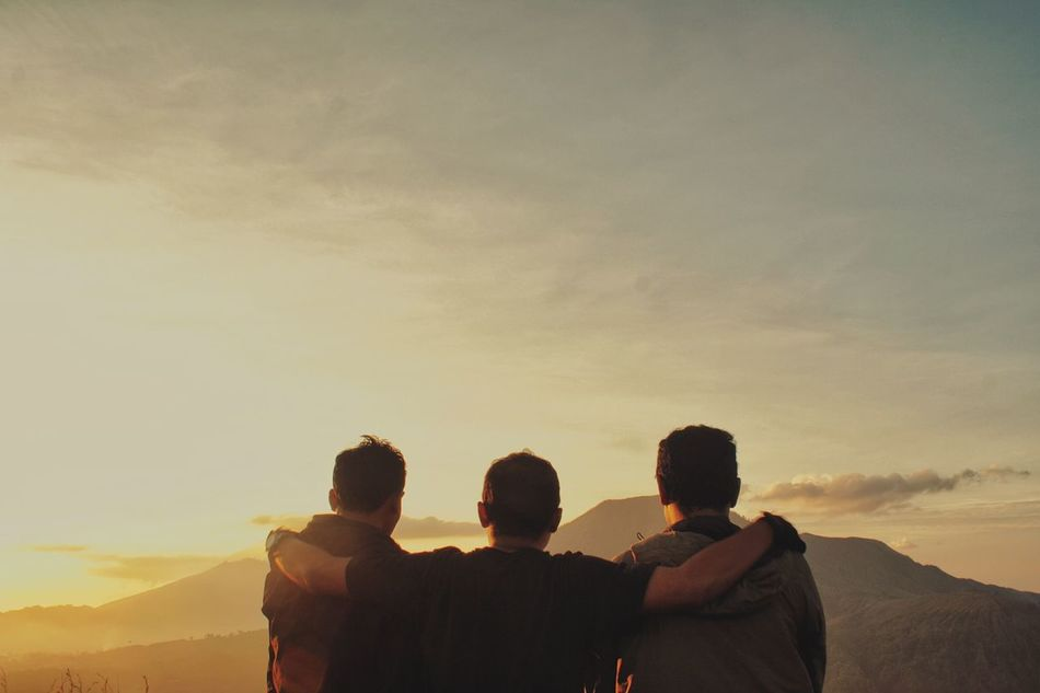 Beautiful stock photos of friends, Arms Around, Beauty In Nature, Bonding, Cloud - Sky
