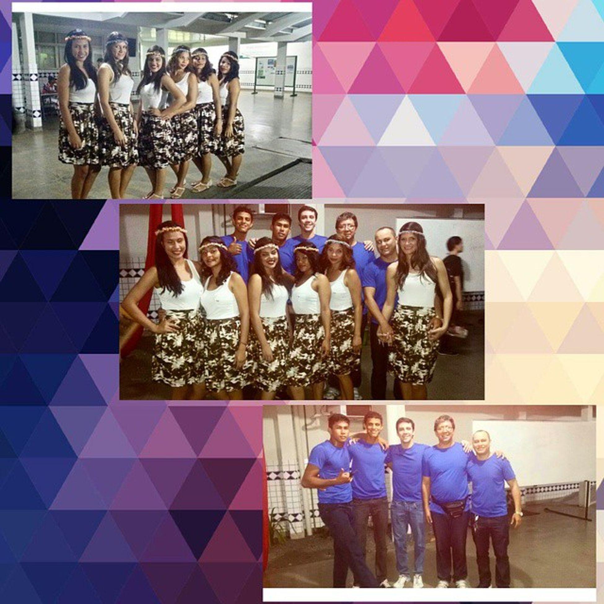 Diferentes gerações de atletas do Real Brasil Voleibol Clube participando do Primeiro Encontro dos Ritmos com uma dança libanesa VôleiRR Voleibol Frv Dança 🎧🎤🎵🎵🎵🎵🎵