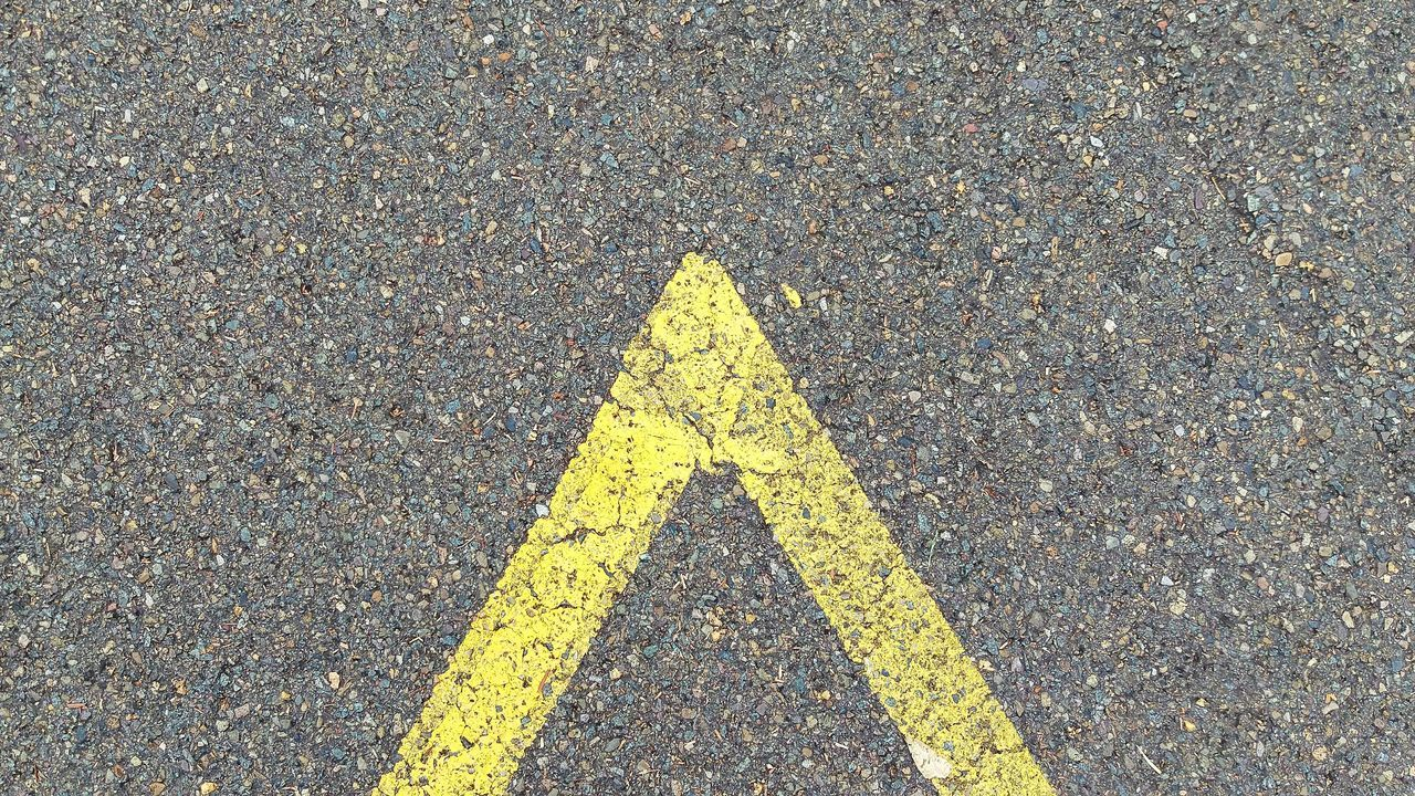 Yellow Asphalt Road Marking Textured  Full Frame Road High Angle View No People Backgrounds Outdoors Close-up Day HTCOneM9 Abstract Photography Pattern Material Black Abstract Paint Decay Textured