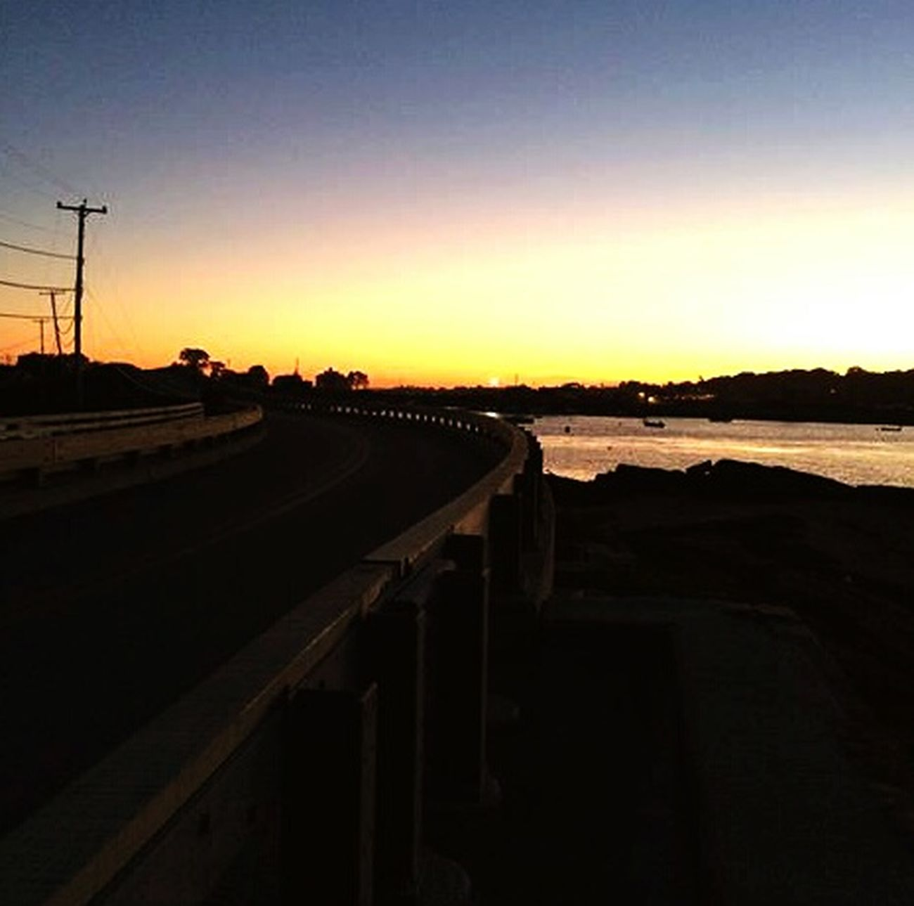 Baileys Island Cobblestone Bridge Sunset Ocean Summer 2015 September Beautiful Carnivalmo0nscorperated