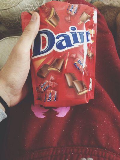 Enjoying Life Daim Eating Chocolate