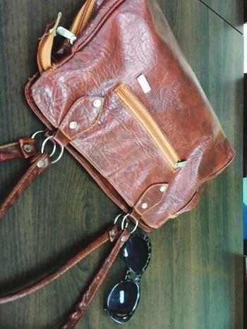 Brownbag Leatherbag Sunshades Sunshade Animalprint Table Busylife Relaxation