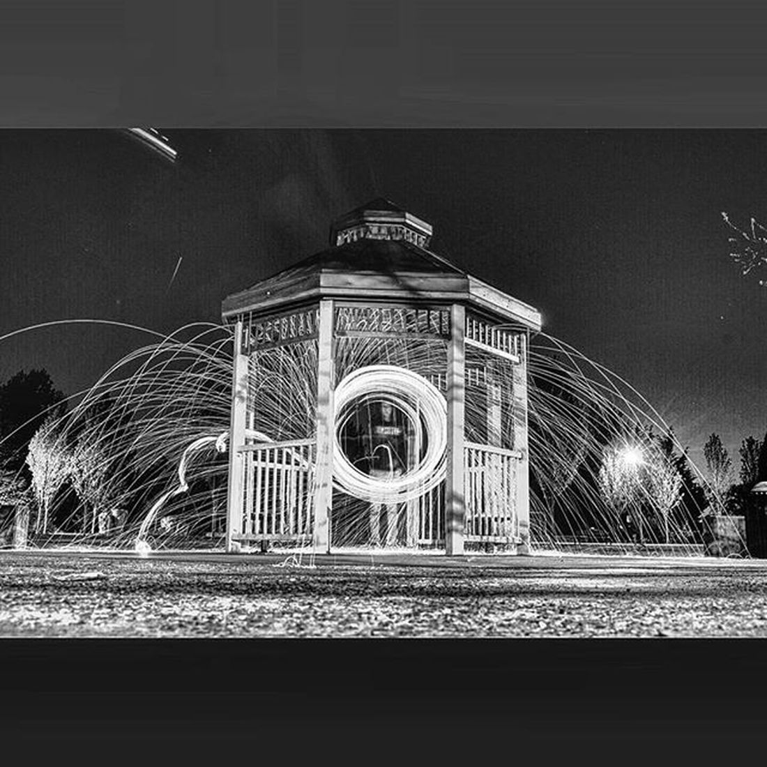 You wander around aimlessly and light things on fire at 2am because you have no friends Nofriends SoAlone Steelwool Idroppedit Washington Wedgepark Longexposure Gazebo Lightwriting Photography Nikon D3200