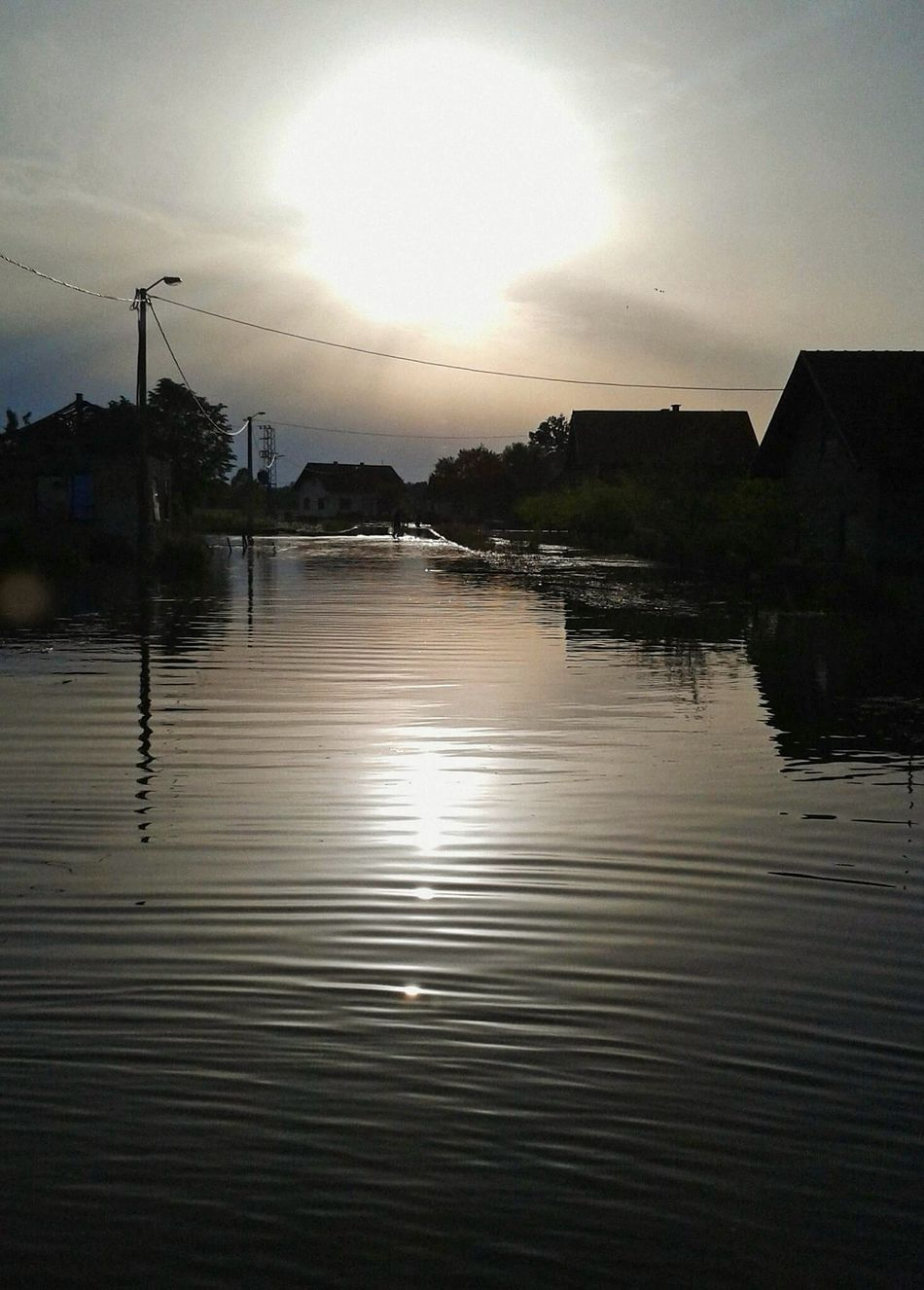 floods in Bosnia 2014 Water Reflection Dramatic Sky Nature Catastrophy Outdoors