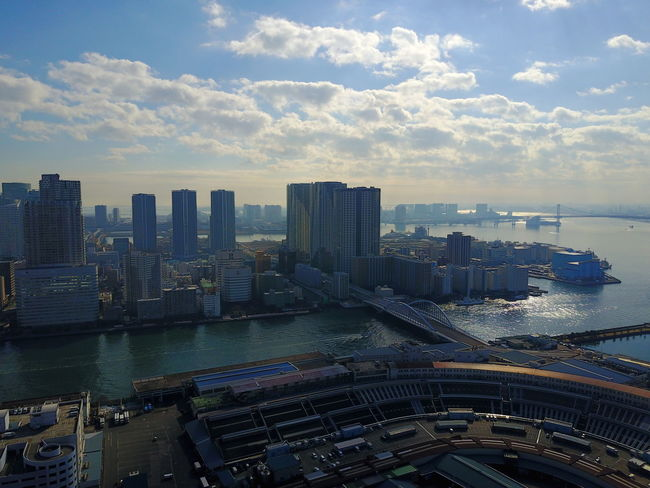 Aerial View Architecture Building Exterior Built Structure City City Life Cityscape Day Downtown District High Angle View Modern No People Outdoors Sea Sky Skyline Skyscraper Travel Destinations Urban Skyline Water