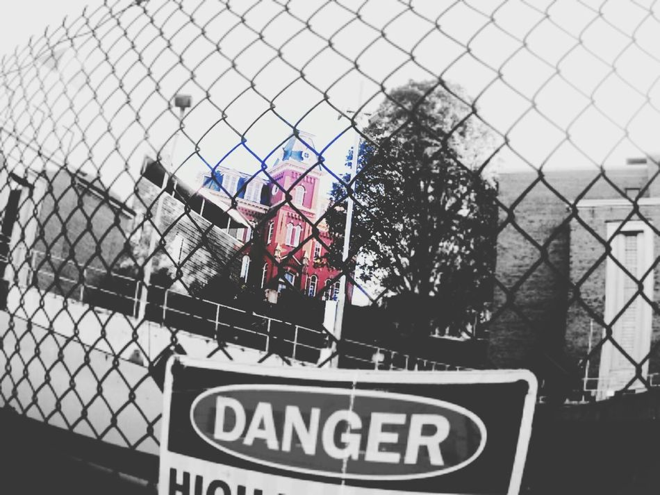 Woodburn Fence Lit Keep Out