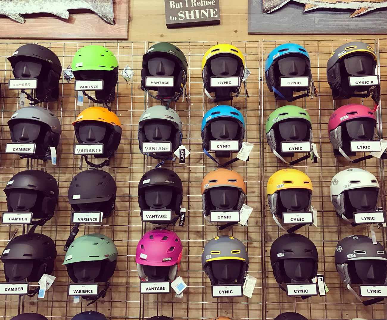 Pick up your color!! Full Frame Built Structure Backgrounds No People Architecture Indoors  Day Helmet Skiing Colors Choice