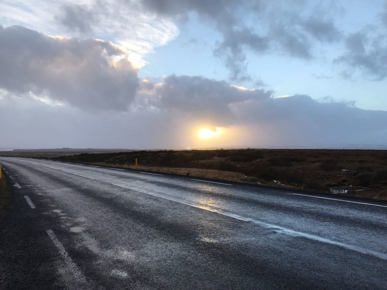 Sky Cloud - Sky Nature Street Roadtrip Road Scenics Outdoors Sun Landscape No People Iceland Beauty In Nature