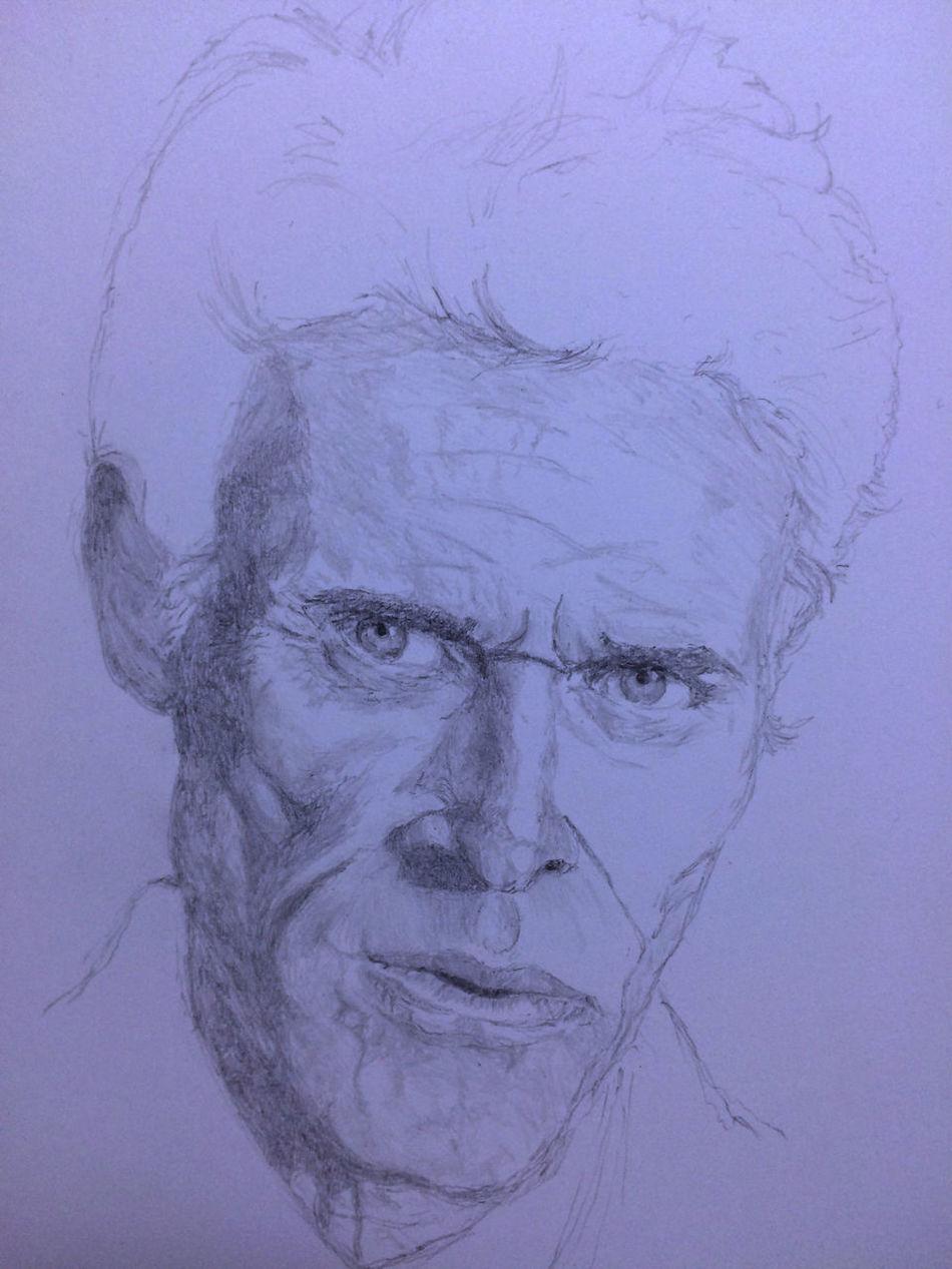 Willem Dafoe Drawing Art ArtWork Art, Drawing, Creativity MyDrawing ウィレムデフォー プラトーン Platoon Color Portrait