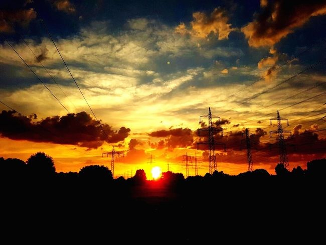 Sunset Silhouette Sky Nature Beauty In Nature Scenics Cloud - Sky Tranquility Tree No People Tranquil Scene Outdoors Electricity Pylon Travel Sunset #sun #clouds #skylovers #sky #nature #beautifulinnature #naturalbeauty #photography #landscape Sunset Silhouettes Sunshine Sunset_collection (null)Sun Sunlight Sky Only Idyllic Nature Tranquility