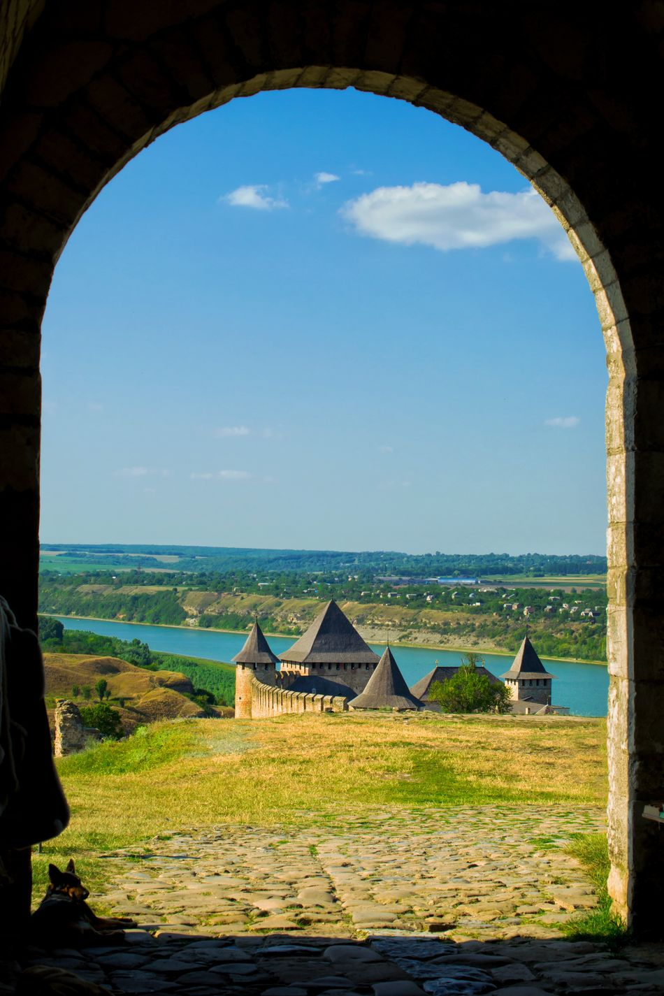 Khotyn fortress and Dnister riverside Architecture Built Structure Outdoors Building Exterior Khotyn Ukraine Dnister River View Fort Riverside River Panoramic Landscape Light And Shadow Summertime Riverscape Historical Place Landscape Bright Colors Backgrounds Summer Outdoor Photography Outdoor Rural Scene Scenics Arch