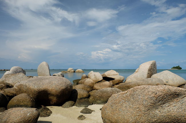 Beach Beauty In Nature Calm Cloud - Sky Cloudy Horizon Over Water Nature Pebble Rock - Object Scenics Sea Seascape Shore Sky Stone - Object Summer Tourism Tranquil Scene Tranquility Travel Destinations Vacations Water